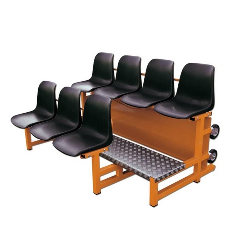 Трибуна двухрядная мобильная на 7 мест Hercules 5483 гидропонная система на 40 мест
