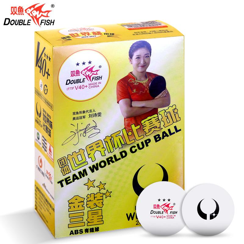 Купить Мячи для настольного тенниса (6шт.) Double Fish 40+ Three star 3*,