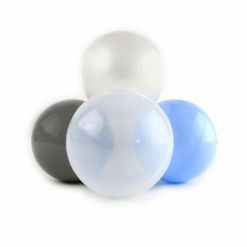 Купить Набор шаров для сухого бассейна Kampfer Pastel 67393 голубойсерыйжемчужныйпрозрачный (150 шт), Сухие бассейны