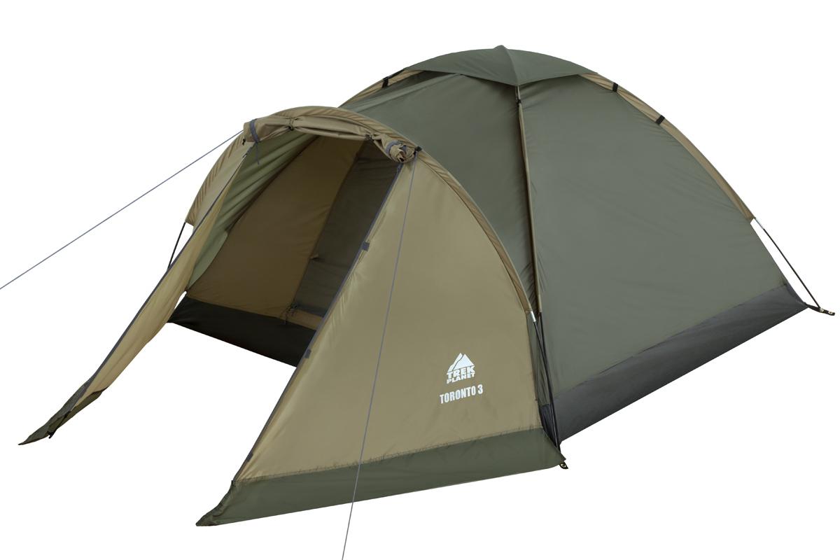 Палатка Trek Planet Toronto 4 т.зеленый/оливковый 70138