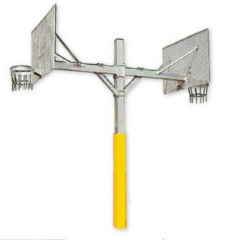 Купить Баскетбольный щит уличный двусторонний стационарный антивандальный Hercules 4322,
