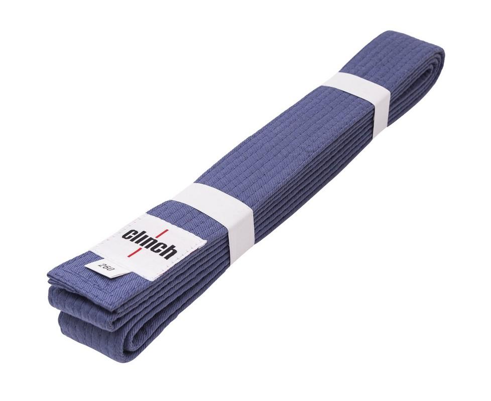 Пояс для единоборств Clinch Budo Belt 260см C303 синий