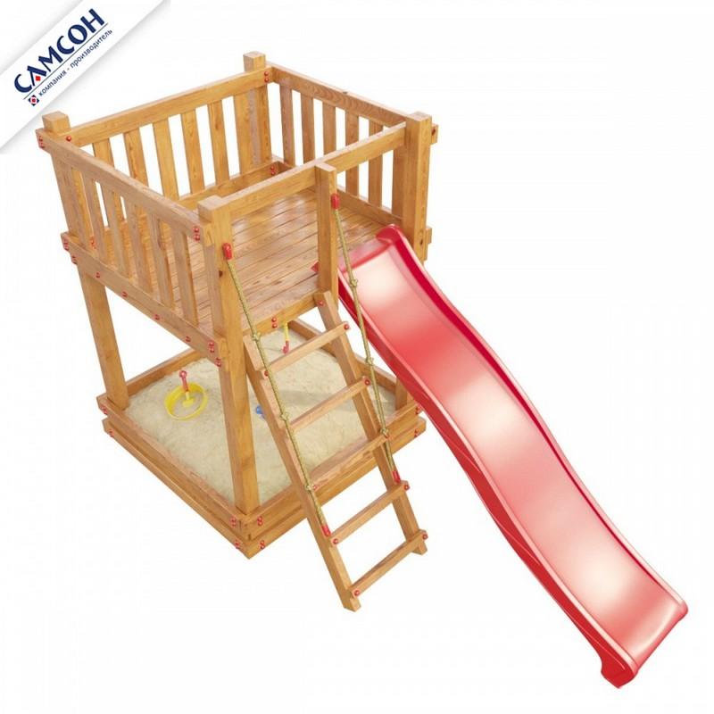 Купить Детская игровая деревянная площадка Самсон Сибирика Мини, цвет Savanna, Детские спортивные комплексы, площадки