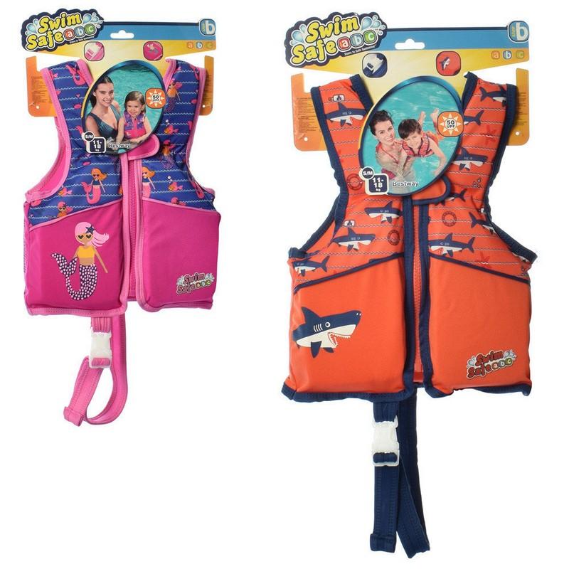 Купить Жилет для плавания с пенопластовыми вставками Bestway 32158 два цвета,