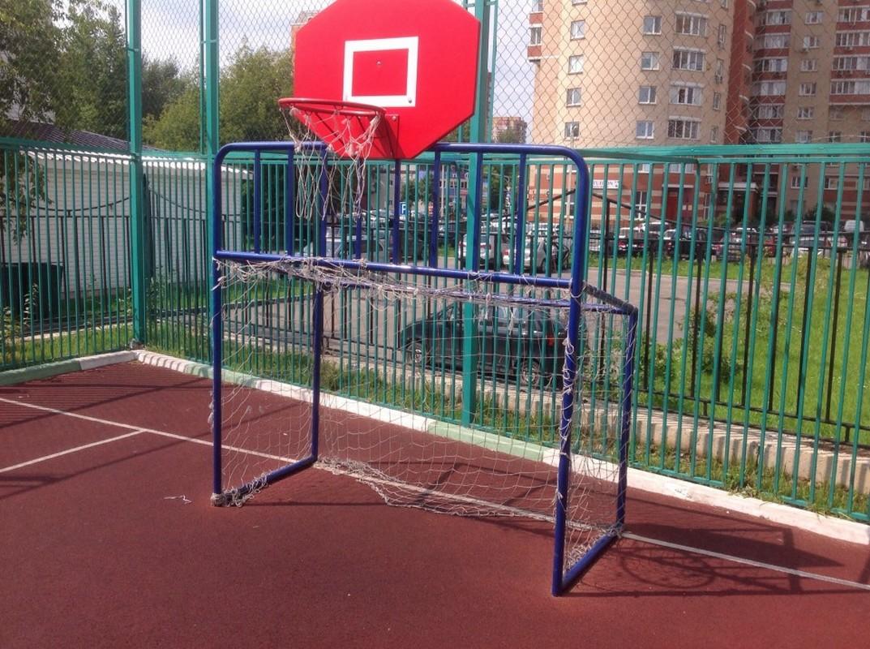 Ворота хоккейные 183x122x110 см (со щитом)