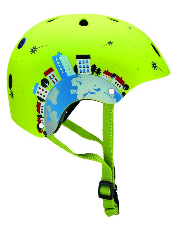 Шлем Globber Printed Helmet Junior Rocket green XS/ (51-54CM)