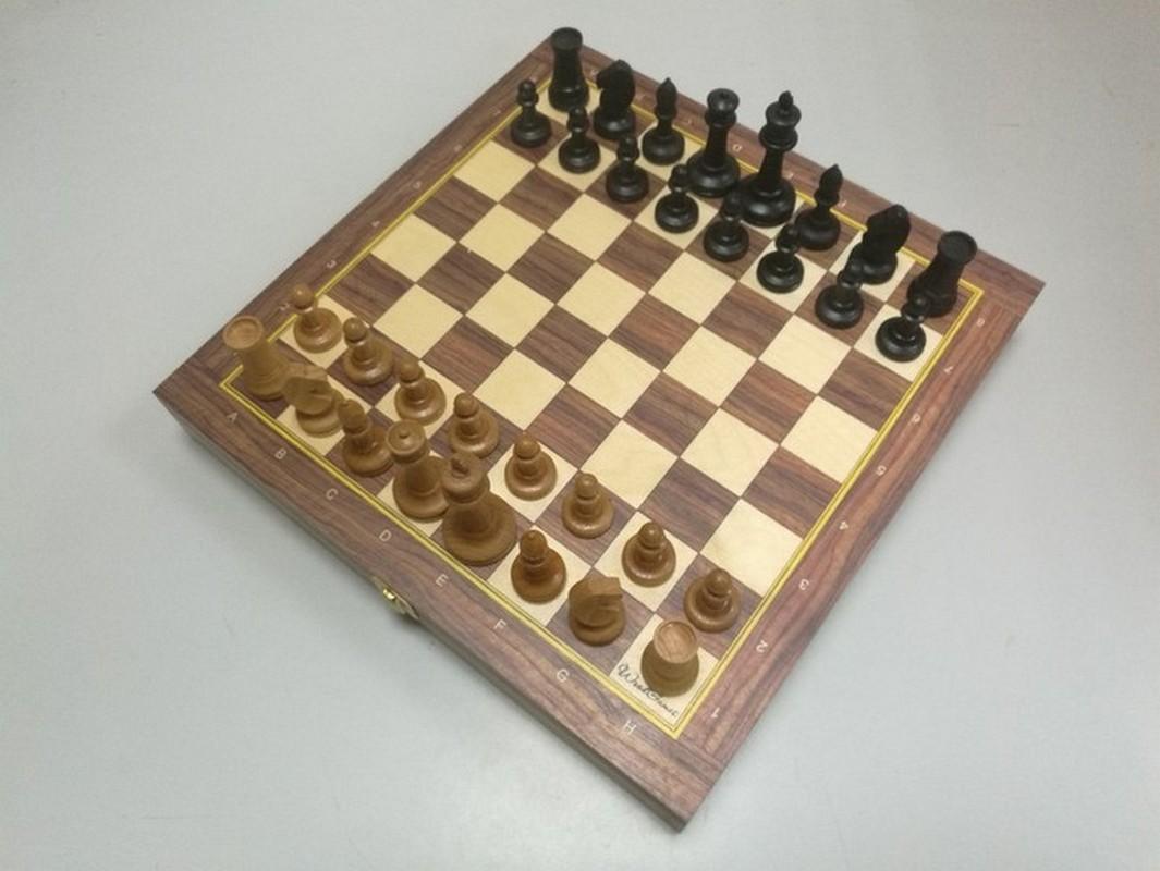 Купить Шахматы Баталия N5 с утяжелителем доской-ларцом 38 см ТШ 18, NoBrand