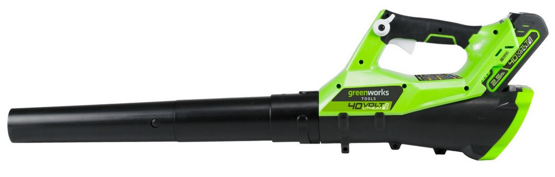Воздуходув аккумуляторный GreenWorks G40AB c АКБ 4 А.ч и ЗУ воздуходув аккумуляторный greenworks gd82bl без акб и зу