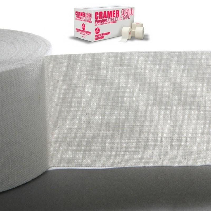 Тейп спортивный Cramer 950 Porous Athletic Tape 48шт, белый kinexib спортивный тейп kinexib sport 9 1 м