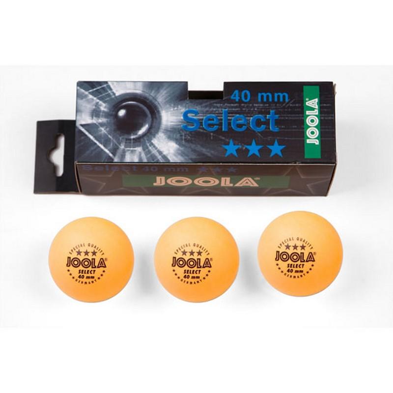 Купить Мячи для настольного тенниса Joola Select 44050, 3 штуки, оранжевый,