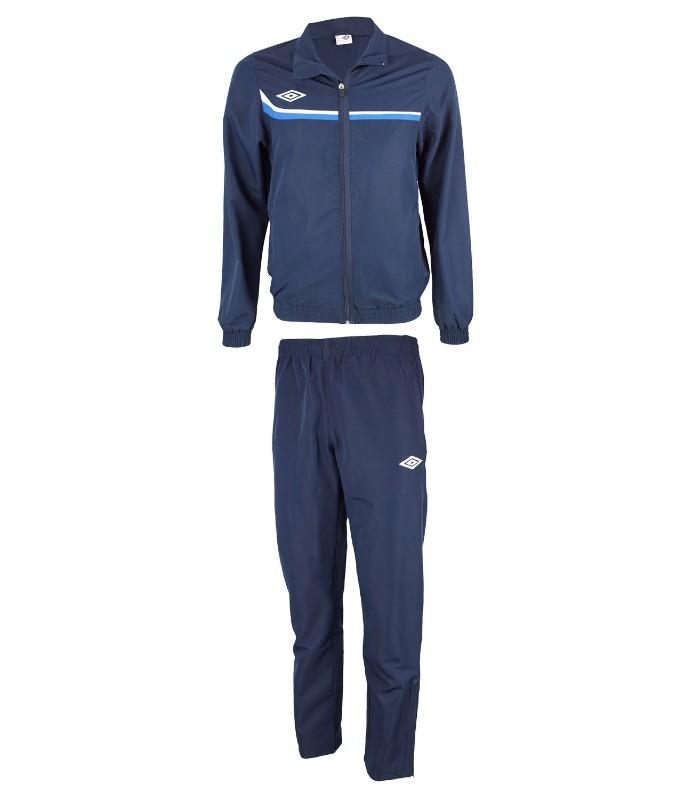 Костюм спортивный Umbro Lined Suit мужской 460113 (971) т.син/син/бел.