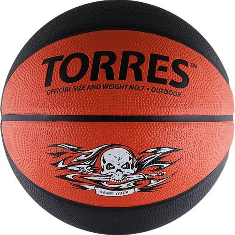 Баскетбольный мяч р.7 Torres Game Over, резина В00117 фото