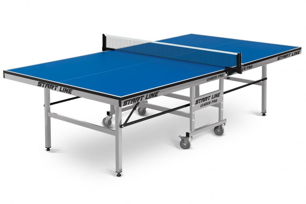 Купить Теннисный стол Start Line Leader Pro (ЛМДФ 25 мм, без сетки, обрезинен.ролики) 60-722,