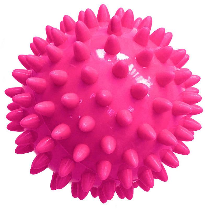 Купить Мяч массажный твердый (розовый) диаметр 7см T07638, NoBrand