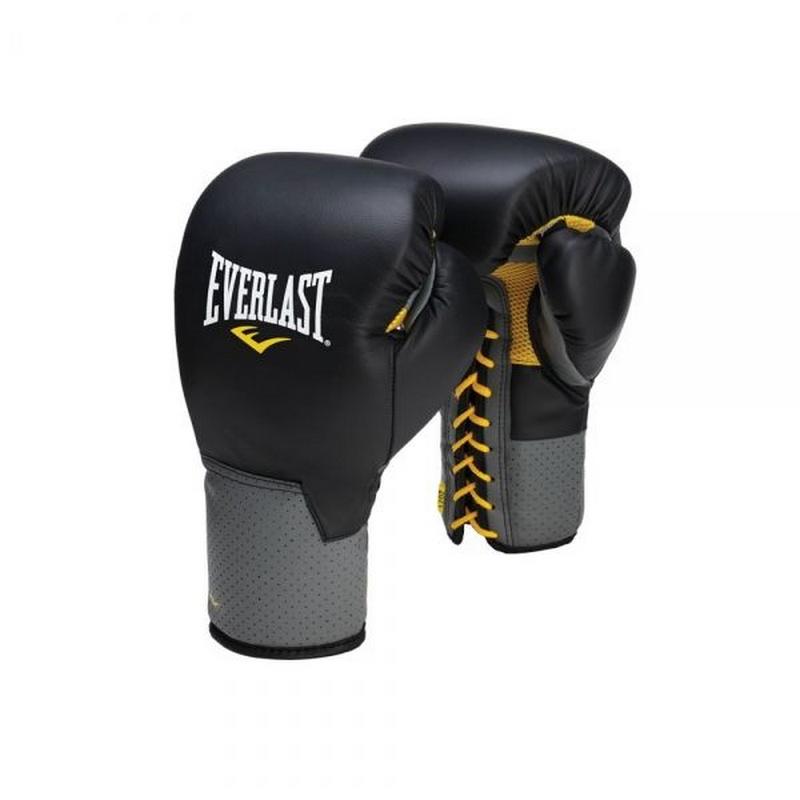 Купить Перчатки тренировочные Everlast Pro Leather Laced 16 oz 591601,