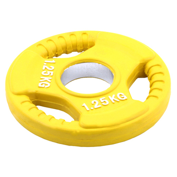 Купить Диск обрезиненный Oxygen Fitness евро-классик 1.25 кг d51мм желтый,