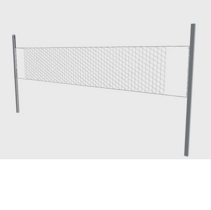 Универсальные мобильные алюминиевые стойки Hercules 80х80 мм с механической лебедкой 5374 стойки для пляжного волейбола без сетки hercules 2248