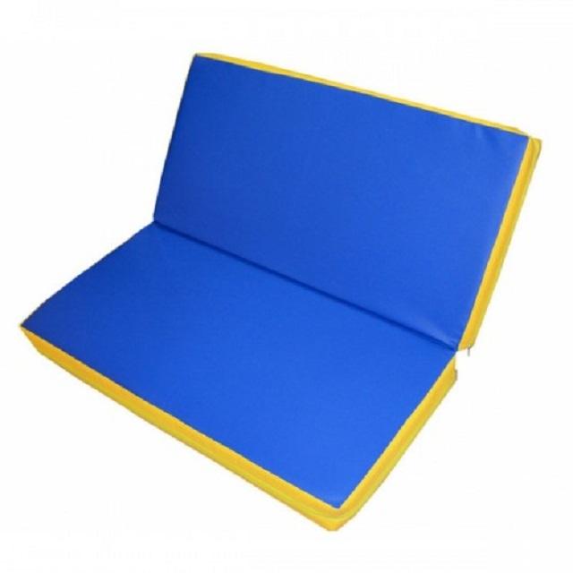 Купить Мат гимнастический складной 2х2х0,2м Стандарт (тент, антислип, 2 сложения), NoBrand
