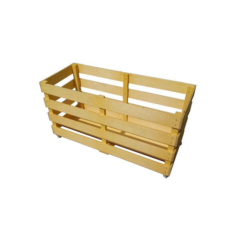 Контейнер (тележка) деревянный Ellada для спортинвентаря, на колесах (ящик) М253