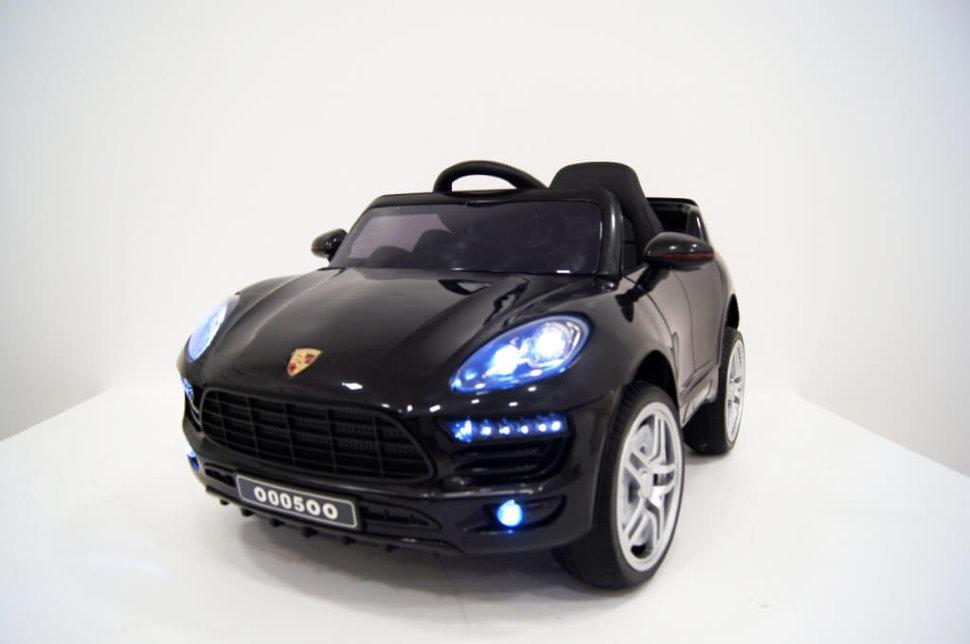 Электромобиль River-Toys Porsche Macan O005OO VIP черный с ДУ
