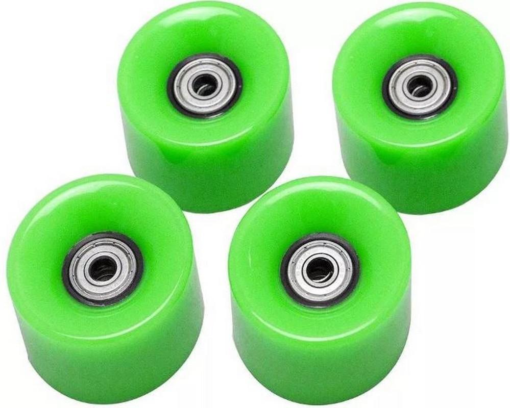 Набор колес для миниборда Atemi AW-18.08 (подшипник ABEC-5) полиуретановые зеленые