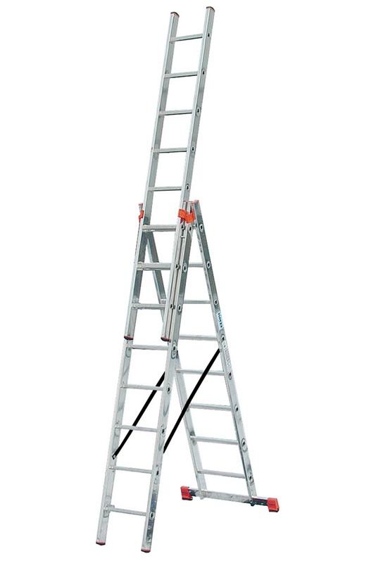 Универсальная лестница Krause MONTO TRIBILO 3х8 перекладин, 245-520 см 121301 лестница krause tribilo 121226