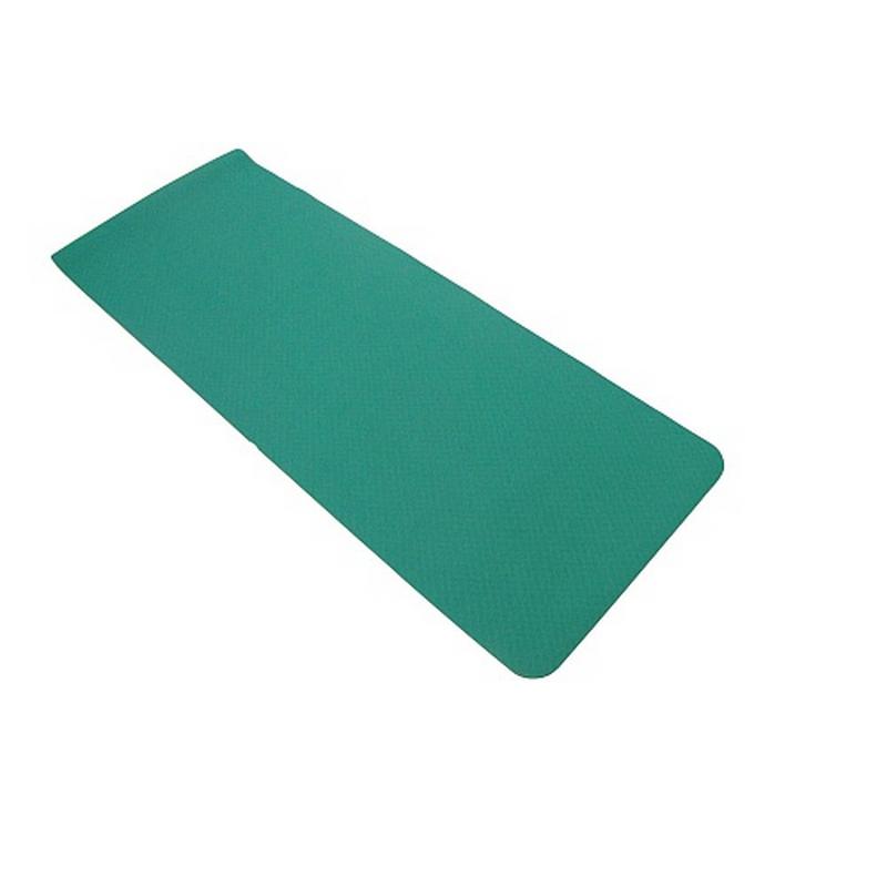 Коврик для фитнеса и йоги AS4 TPE двухцветный mint/orange