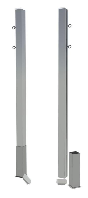 Купить Бадминтонные алюминиевые стойки стационарные SportWerk SpW-AB-1,