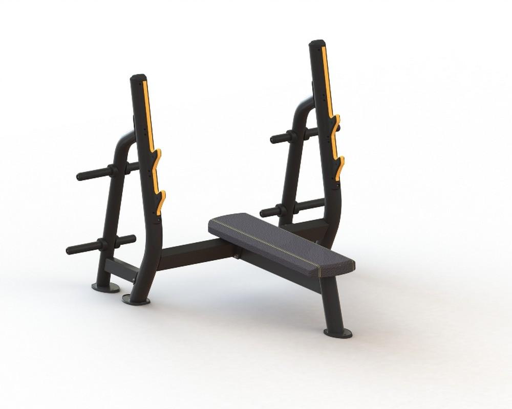 Олимпийская горизонтальная скамья Kraft Fitness KFOFBY скамья прямая spirit fitness afb121