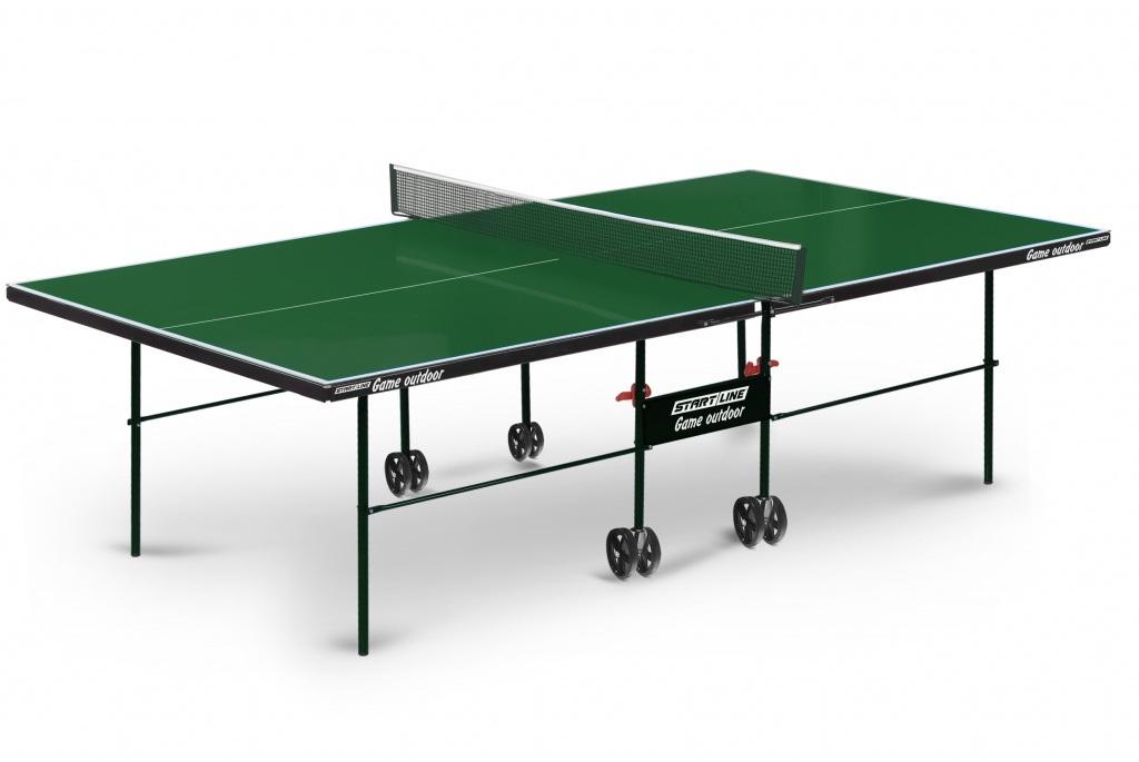 Купить Теннисный стол Start line Game Outdoor с сеткой Green, Line