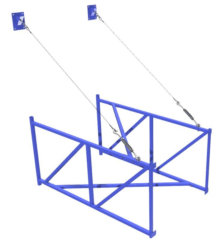 Купить Ферма баскетбольная ФСИ вынос 2м для щита 180х105 cм, 6517,