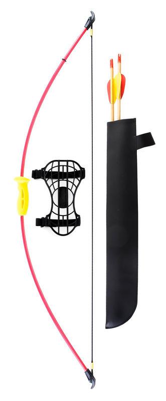 Лук детский классический красный 4,5кг, 93см (колчан, 2 стрелы, крага, мишень) Interloper RE-0057 johns sb 1044
