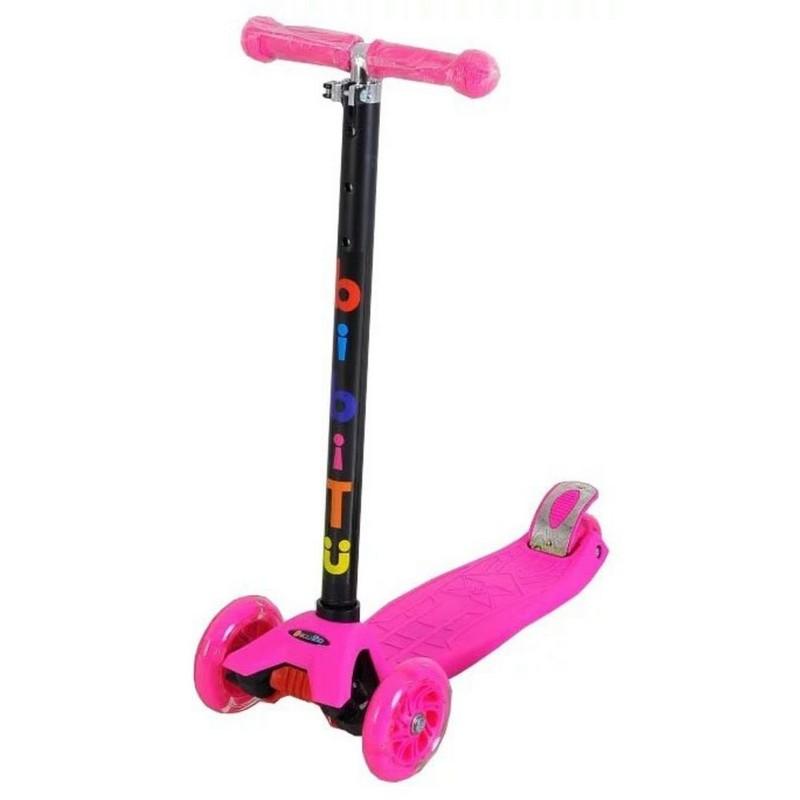 Купить Самокат детский BiBiTu тротинетка 3-х колесный CAVY SKL-07-PN розовый,
