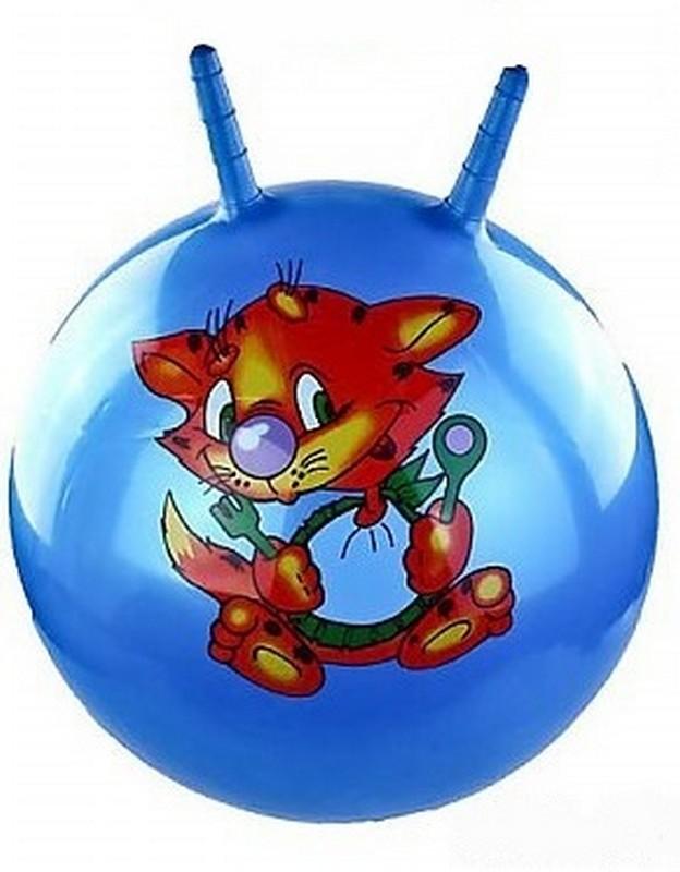 Купить Мяч попрыгун с рожками T07481 55 см 3 цвета, рисунком, NoBrand