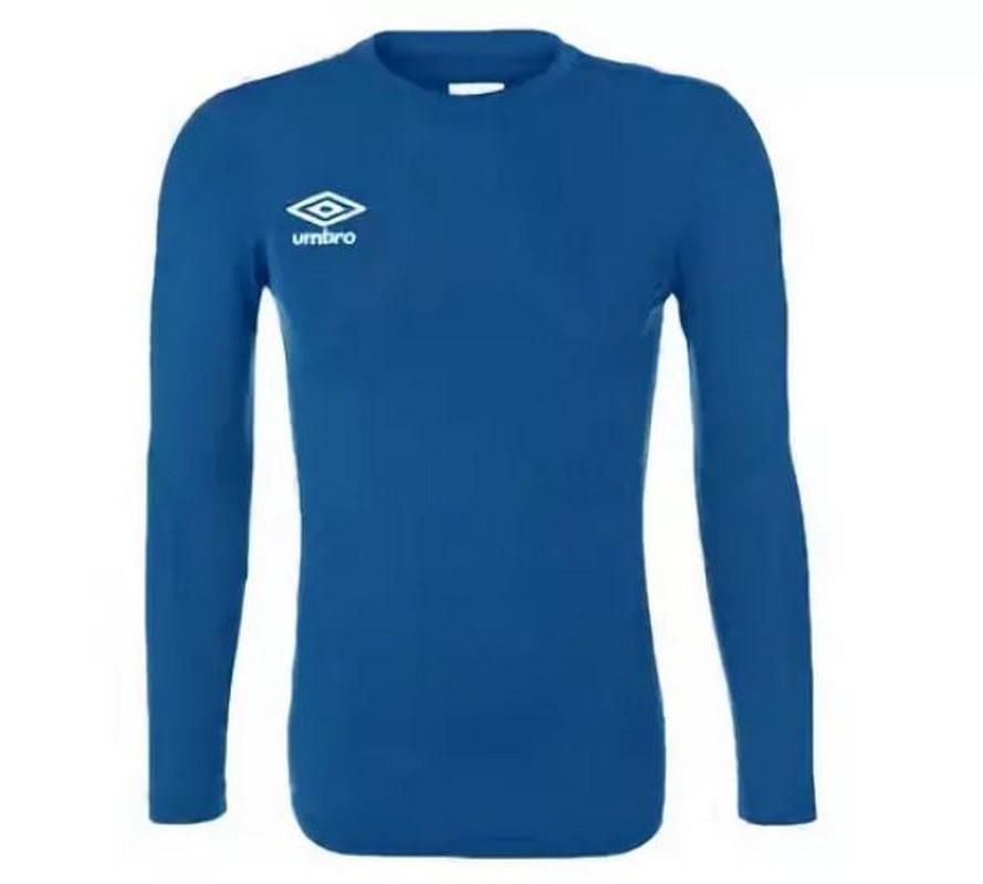 Футболка тренировочная Umbro Fw Ls Crew Baselayr с длинным рукавом (030) синяя