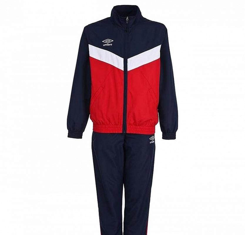 Костюм спортивный Umbro Unity Lined Suit брюки прямые 463115 (291) красн/т.син/бел.
