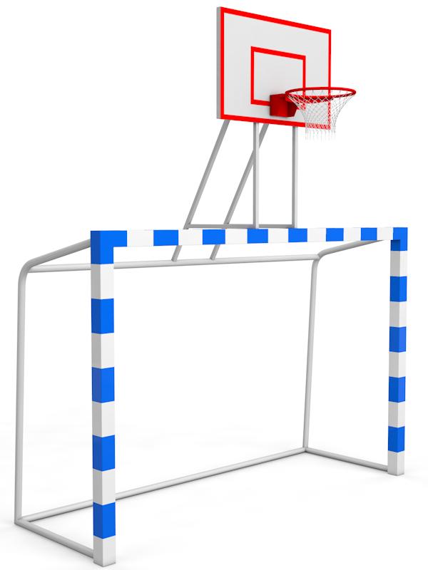 Баскетбольная стойка с воротами, щит фанера влагостойкая Glav 02.115