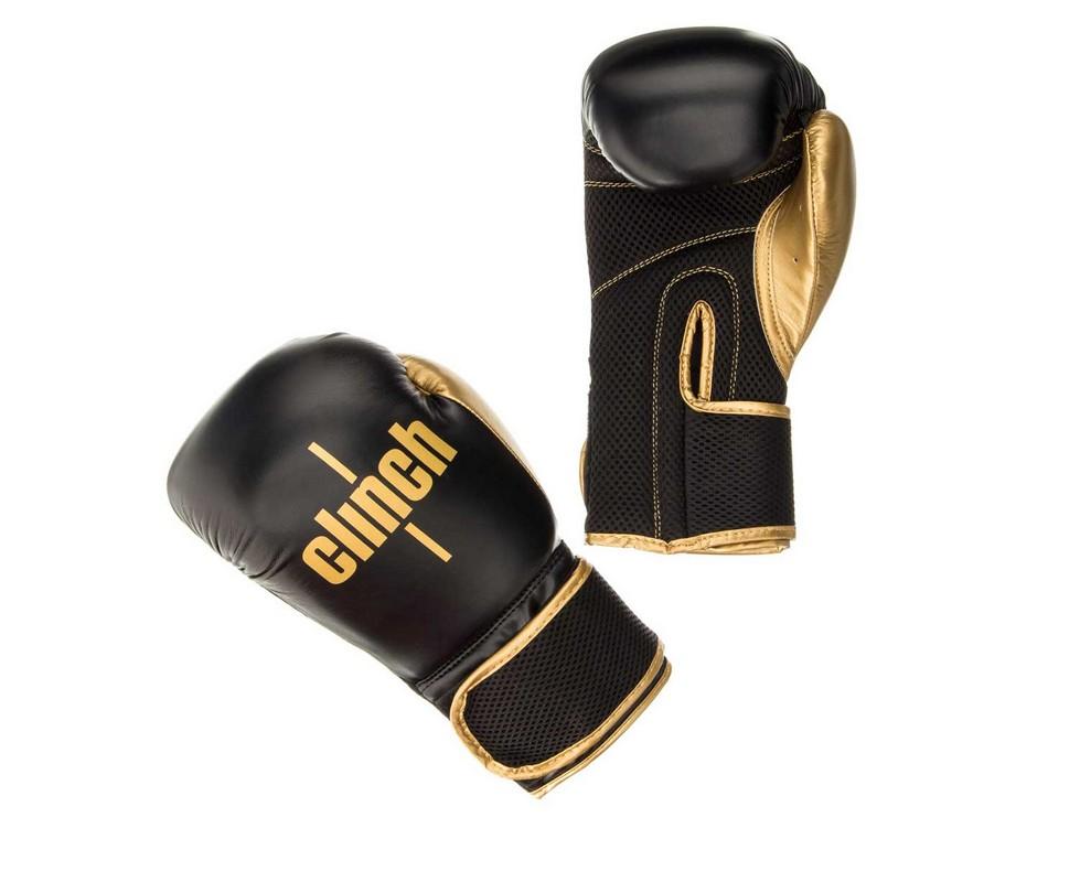 Перчатки боксерские Clinch Aero черно-золотые C135