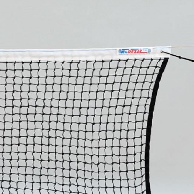 Сетка для большого тенниса KV.Rezak тренировочная d=3мм черная, с тросом сетка для мини тенниса
