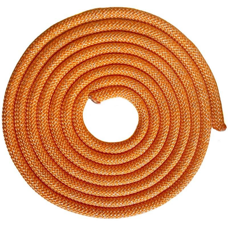 Купить Скакалка для художественной гимнастики 3 м Pro SKG10-17 оранжевый с блестками, NoBrand