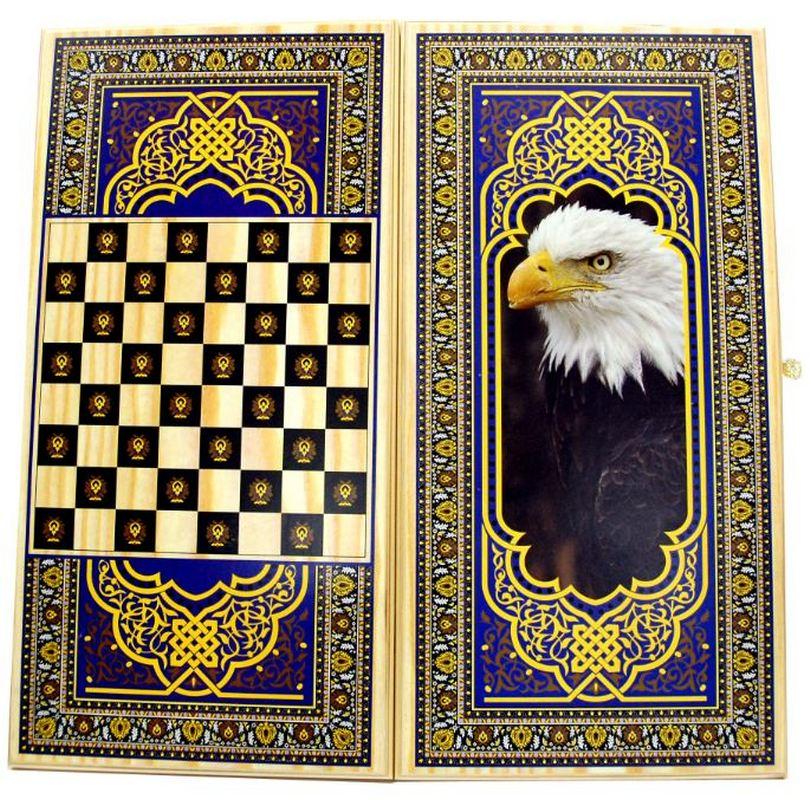 Купить Нарды + Шашки Тульские Орел большие u10475, NoBrand, Шахматы, шашки, нарды