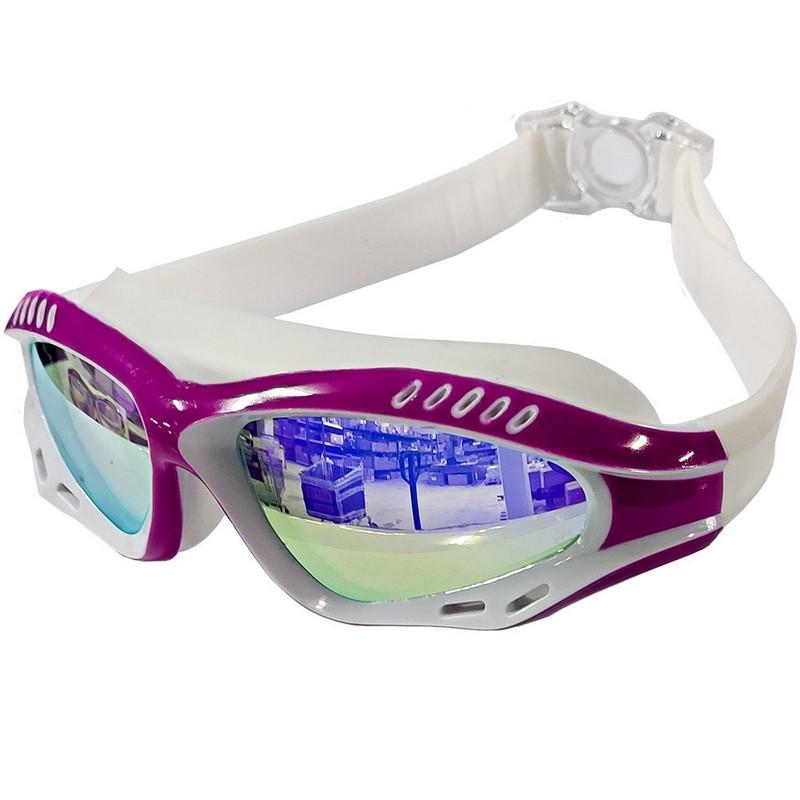 Купить Очки для плавания полу-маска B31540-2 Розовыйбелый, NoBrand