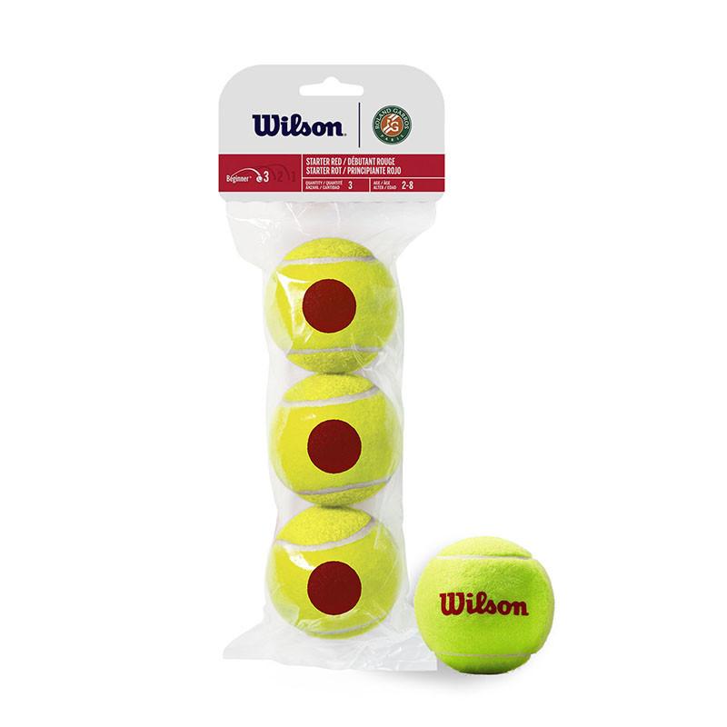 Купить Мяч теннисный Wilson Roland Garros WRT147600, 3 мяча в упаковке, красный,