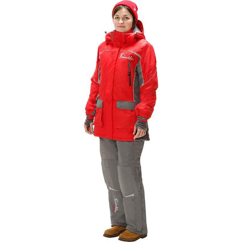 Костюм Fisherman Леди V2 зимний (до -35°С) 95574-055 серый/красный