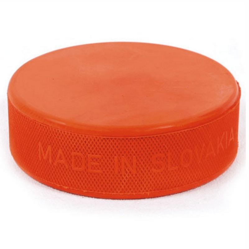 Шайба хоккейная Vegum оранжевая стандартная утяжеленная 280г
