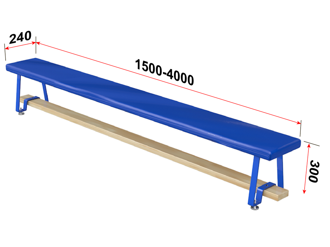 Купить Скамья гимнастическая мягкая, ножки металлические Glav 04.301.1,