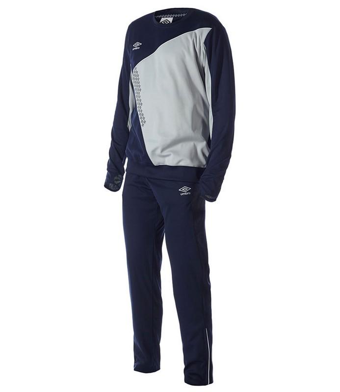 Костюм спортивный Umbro Armada Poly Suit мужской 350315 (891) св.серый/т.син/бел.