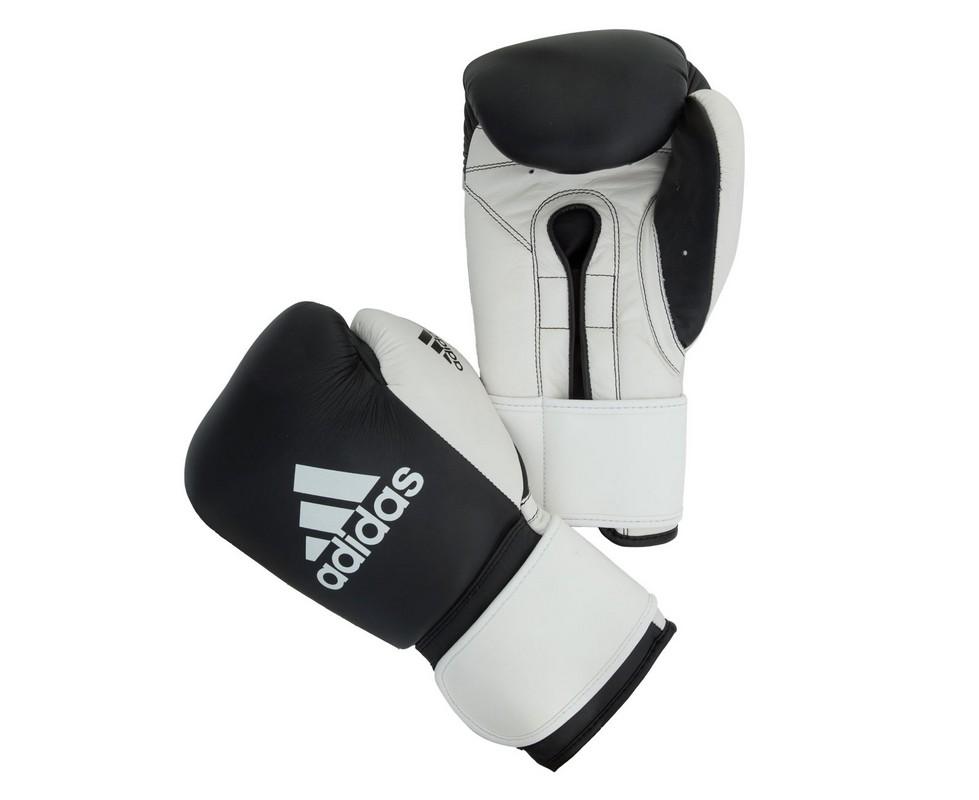 Перчатки боксерские Adidas Glory Strap Professional черно-белые adiBC061 обувь для детей