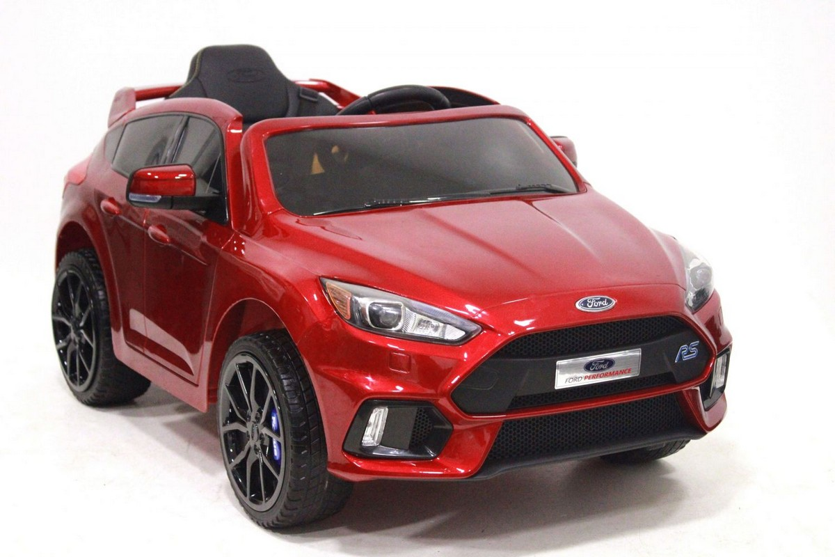Электромобиль River-Toys Ford Focus RS вишневый глянец (лицензия)