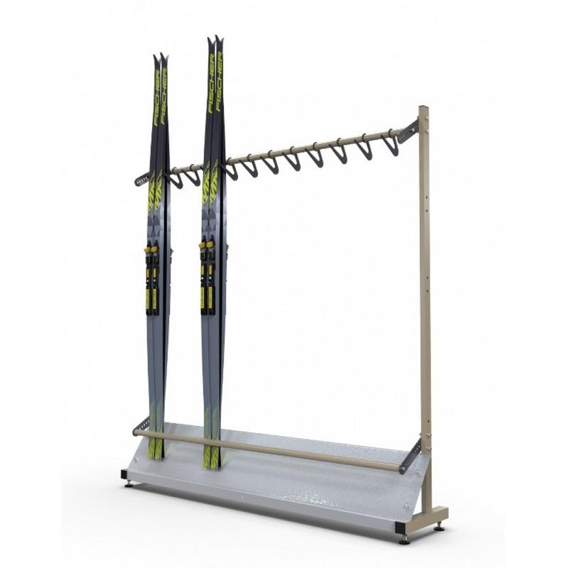 Купить Стойка «Стандарт» для беговых лыж на 22 пары с вешалкой лыжных палок (о) Gefest 160х124х30,
